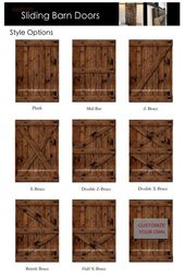 Rustic barn sliding door – made to fit your style individually