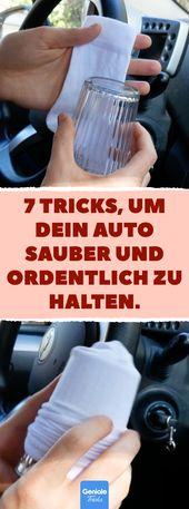 7 Tricks, um dein Auto sauber und ordentlich zu halten. #lifehacks #auto #glas #…