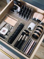 Wie organisiere ich meine Makeup-Schubladen?