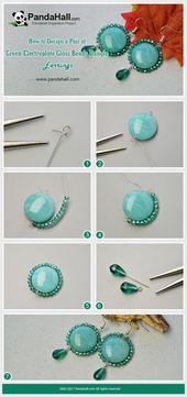 PandaHall Inspiration Project — Grüne Galvanik Glasperlen Ohrhänger …
