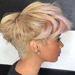 bombenblonder Schnitt über Kisha Jefferson 💗. . #thecutlife #dmvhairstylist #blond #shorthair #norelaxer #haircolor