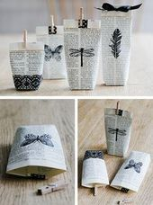 Make gift wrap and creatively wrap gifts