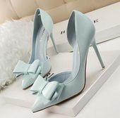 NEW Women's Pumps Wedding Slim High Heel Pointed Toe Stiletto Party Heels Shoes Q-0100 from Eoooh❣❣