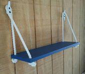 Nautical Nursery Shelf, Nautical Organization, Swing Rope Shelf, Floating Shelf, Nautical Rope Shelf, Beach House Shelf, Hanging Shelf
