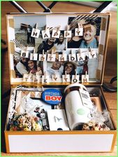 idée cadeau anniversaire 2019 – Langstrecken-Geburtstagsbox für Freund #birthdaygiftideas …… – Diy gift For Kids Ideen
