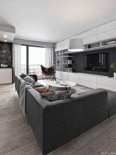 55+ Fabulous Modern Gray Living Room Decor Ideas