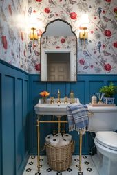 Maximalistic French Powder Room: One Room Challenge Week 6 REVEAL