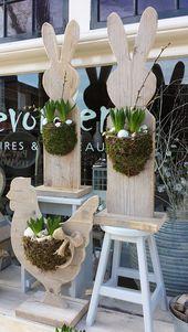 20 Super Easy DIY Holzdekorationen, um Ihr Zuhause zu Ostern zu verschönern – Dekoration De