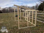 Wie man ein Ziegenhaus baut: Vorräte & Rahmen