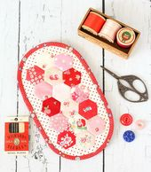 Hexie Stitching Equipment PDF Sample by A Spoonful of Sugar Designs