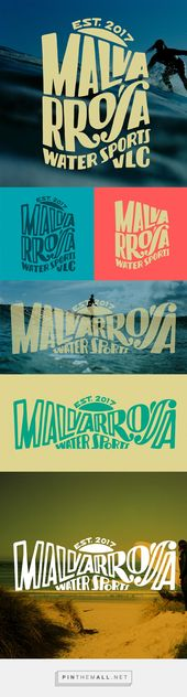 Malvarrosa Water Sports on Behance – creado a través de pinthemall.net   – Graphic design
