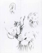 """Charcoal Lion Drawing Print, Lion Sketch, 8 """"x10"""" Lion Art, Charcoal Drawing, Lion Charcoal Sketch, Lioness & Lion, Lion Love, Lions Art"""