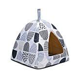 ドーム型 ペットハウス 犬小屋 猫ハウス ペットベッド いちご型 ペット用 クッション付き 猫 小型犬 室内用 35x35x40cm グレー 猫 ベッド 手作り 猫 猫 テント