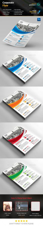 Corporate Flyer Template PSD. Download here: graphicriver.net/…