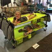 Portable Bunk Bed | Saw this at a trade show, very cool. Perfect for the kiddos …