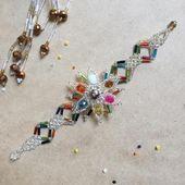 Mexico Handmade Multicolor ADA Huichol Bracelet Beaded Ethnic Jewelry Unisex
