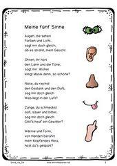 #Sinne #gedicht #reim #körper #erzieherin #kita