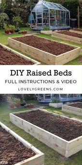 Erhöhte Gartenbetten bauen: Größen, das beste Holz und Tipps zum Füllen