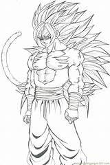 Juegos De Pintar A Goku Fase 4 Para Colorear Y Recortar