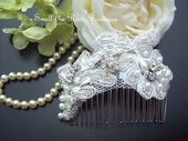 Bridal Vintage Lace Hairpiece,Wedding Hair comb,Bridal Hair Accessories