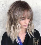 40 Styles with Medium Blonde Hair for Major Inspiration #ashblondebalayage Ash Blonde Balayage Hair With Bangs #blondehair