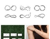 Infinity Symbol Set – Tattoo (12 pieces), #Infinity #Set # Piece #Symbol # Tattoo #te …