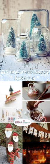 So easy you can tinker Christmas decorations – craft ideas for Christmas