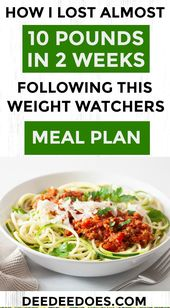 How I Lost Almost 10 Pounds in 2 Weeks Following This Weight Watchers Meal Plan – fitness-tipps