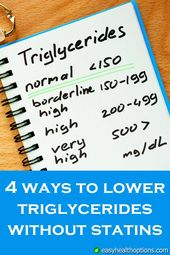 Easy Health Options® :: 4 ways to lower triglycerides without statins 1