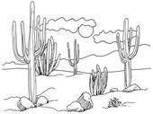 Wie zeichnet man Wüstenkakteen in 4 Schritten
