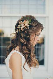Haarschmuck Hochzeit offenes Haar   – Hochzeitskleider Hannah