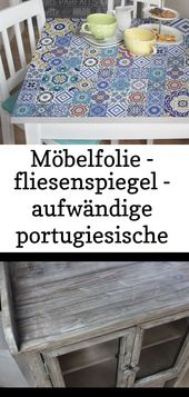 Möbelfolie – fliesenspiegel – aufwändige portugiesische fliesen – möbel klebefolie 2