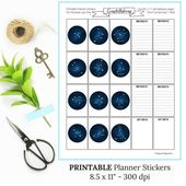 Constellations Stickers Printable | Sticker Sheet Download | Horoscope Birthday Stickers | Astrology Stickers | Happy Planner Weekly Layout