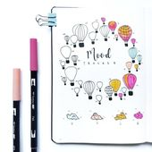 20+ Genius Mood Tracker Ideas For Your Bullet Journal - Craftsonfire 1
