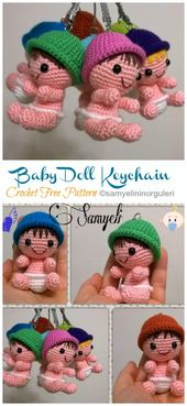 Amigurumi Baby Doll Keychain Crochet Free Patterns - Crochet & Knitting