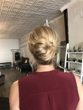 Effortless bridal updo