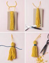 25 Pom Pom Crafts, um dich verrückt zu machen #craft #crafts #DIY