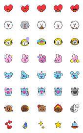 UNIVERSTAR BT21: Must-Have Emoji – LINE Emoji | LINE STORE