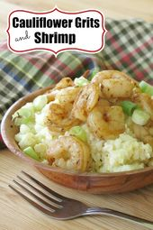 Cauliflower Grits and Shrimp