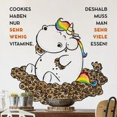 Bilderwelten Wandtattoo »Pummeleinhorn wenig Vitamine« online kaufen   OTTO