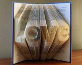Folded Book Art / 3D Book Sculpture / Book Origami / Book Page Art / Folded Book Sculpture / Book Themed Nursery / Book Sculpture / Book Art – Libri piegati