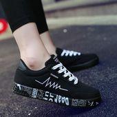 2018 Style Ladies Vulcanized Sneakers Sneakers Girls Lace-up Informal Sneakers Breatha…