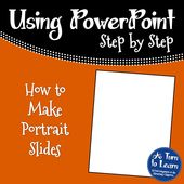 How to Make Portrait Slides in PowerPoint! • A Turn to Learn