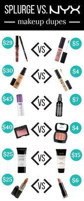 20 Makeup Dupes von NYX, die fast zu gut sind, um wahr zu sein – #die #dupes #fa