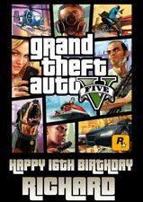 Find Great Deals For Personalised Grand Theft Auto Gta 5 Birthday