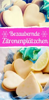 Rezept für herzförmige Zitronenplätzchen, die nicht nur Weihnachten schmecken    – Rezepte