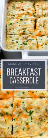 Veggie-Frühstücksauflauf zum Selbermachen   – Delicious Food