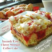 Insanely Easy Cherry Streusel Coffee Cake for Mother's Day from Cleo Coyle  – Yummy