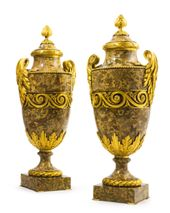 A VERY FINE AND IMPRESSIVE PAIR OF LOUIS XVI STYLE…