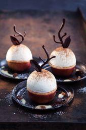 Bratapfel mit Schmandmousse und Zimt